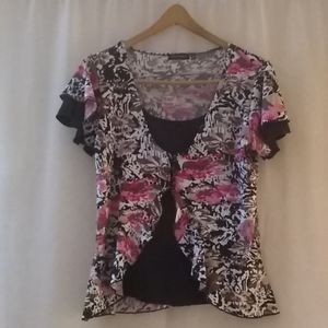 Notations women's multicolored blouse size m